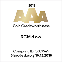 In Forwarding agency RCM d.o.o. we are proud to have achieved the Golden Creditworthiness Certificate of Excellence in Creditworthiness 2018