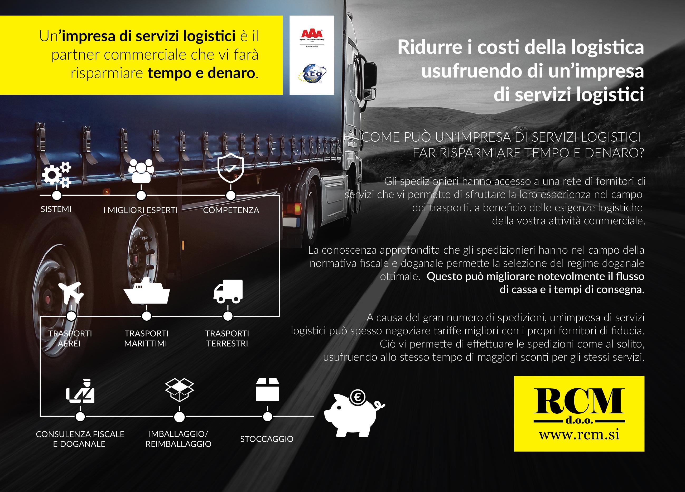 Un impresa di servizi logistici è il partner commerciale che vi